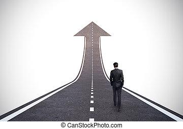carrière, concept, croissance