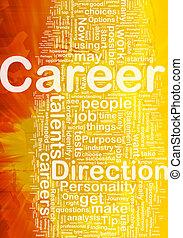 carrière, concept, fond