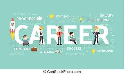 carrière, concept, illustration.