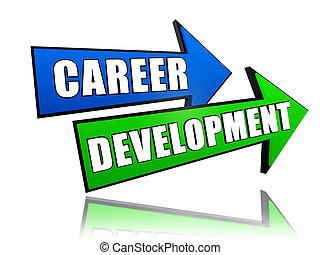 carrière, développement, flèches