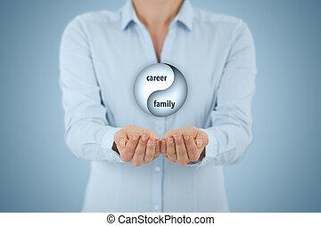 carrière, en, gezin, evenwicht