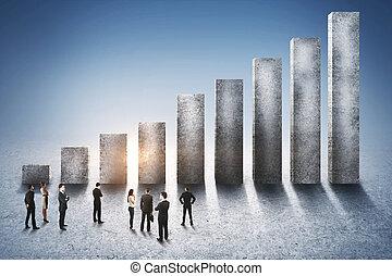 carrière, et, croissance, concept