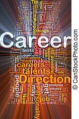 carrière, gloeiend, concept, achtergrond