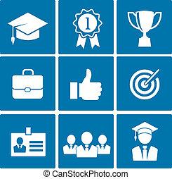 carrière, icones affaires