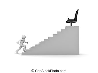 carrière, marche, échelle