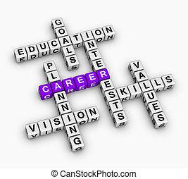 carrière, mots croisés