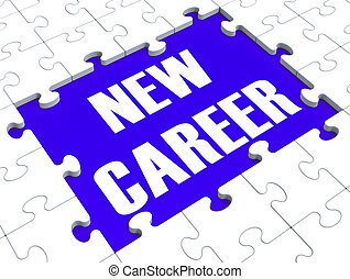carrière, raadsel, toekomst, nieuw, beroep, het tonen