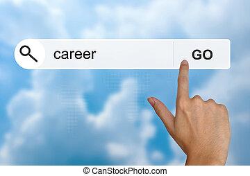 carrière, recherche, toolbar