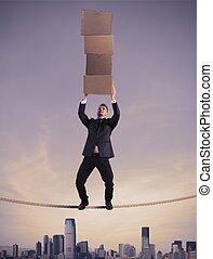 carrière, zakelijk, moeilijk
