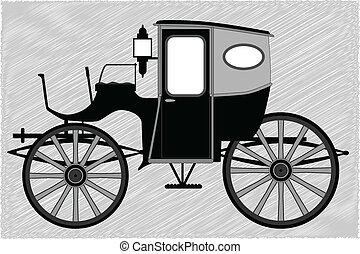 A typical Victorian or Georgian style British carriage