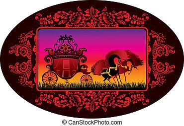 carriage., fairy-fairy-tale