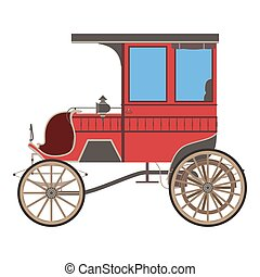 Carriage horse vector cinderella illustration princess silhouette design vintage isolated fairstyle coach retro