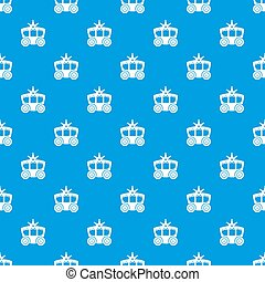 Carriage pattern seamless blue