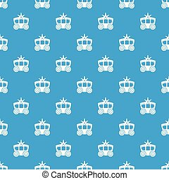 Carriage pattern vector seamless blue