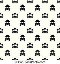 Carriage pattern vector seamless