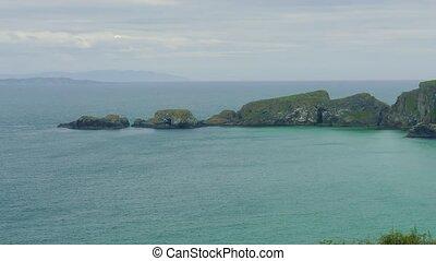 carrick-a-rede, hängebrücke, nordirland, -, eingestuft,...