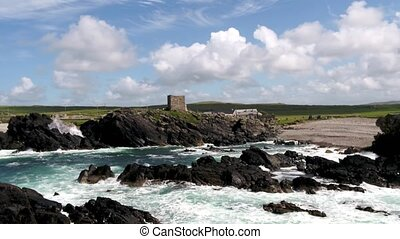 Carrickabraghy Castle - Isle of Doagh, Inishowen, County Donegal - Ireland.