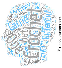 carrie crochet 1 text background wordcloud concept