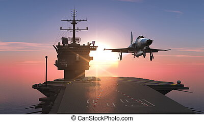 carrier and fighter