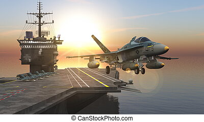 carrier and fighter.