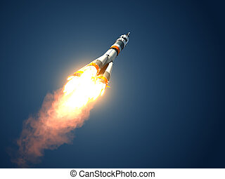 "Carrier Rocket ""Soyuz-FG"" Takes Off - Carrier Rocket..."
