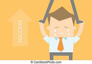 carriera, desiderato, affari, opportunità, uomo