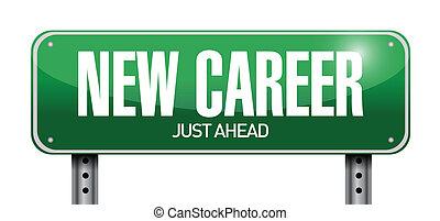 carriera, illustrazione, segno, disegno, nuovo, strada
