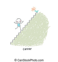 carriera, ladder., illustration.