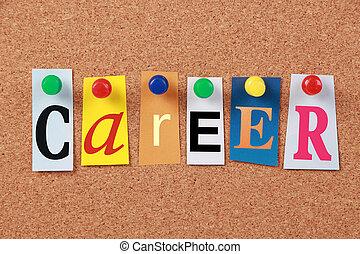 carriera, parola sola