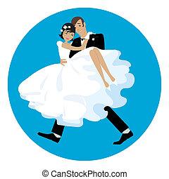 carring, a, menyasszony