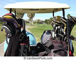 carrito, golf