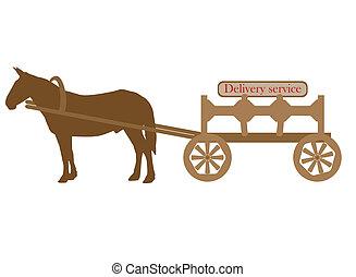 carrito, mula