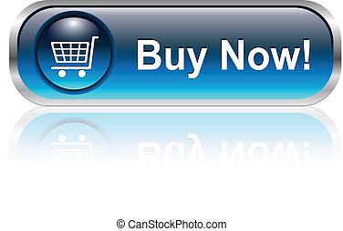 carro de compras, icono, botón