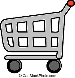 carro de compras, icono