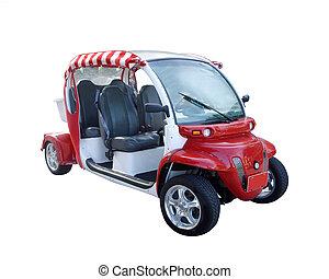 carro del golf, aislado, blanco