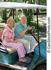 carro del golf, -, seniors