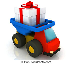 carro del juguete, conduce, regalo
