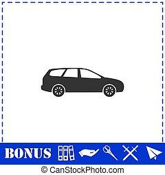 carro passageiro, apartamento, ícone
