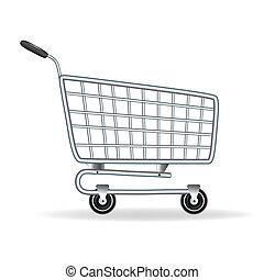 carro shopping, ícone