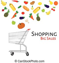 carro shopping, vetorial
