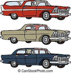 carros, americano, clássicas