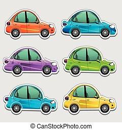carros, brinquedo, adesivos