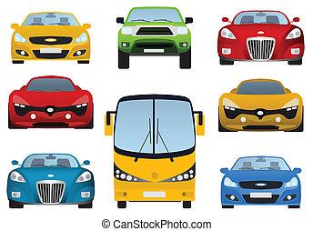 carros, cobrança, (front, view)
