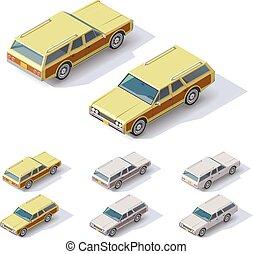 carros, isometric, vetorial