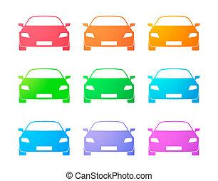 carros, jogo, colorido, ícone