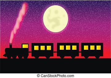 carros, vapor, locomotora
