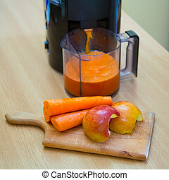 Carrot and apple juice