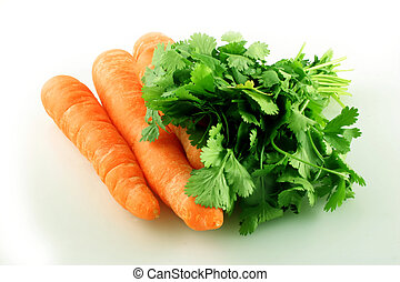 Carrot and Coriander ready to make soup.