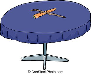 Carrot and Stick on Table