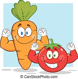 Carrot And Tomato Characters